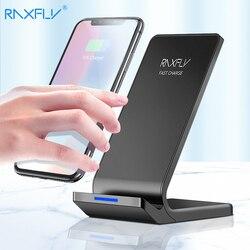 RAXFLY 10 W Cargador Inalámbrico Qi Para el iphone X 8 Más Rápido de Carga soporte Para Samsung S6 S7 S8 Plus borde Nota 8 Teléfono Rápidamente cargador