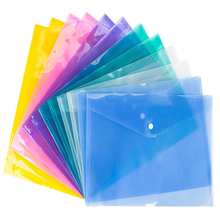 A4 Clear Bag Paper File Folder Stationery office & school supplies folder for documents case bag plastic sleeves