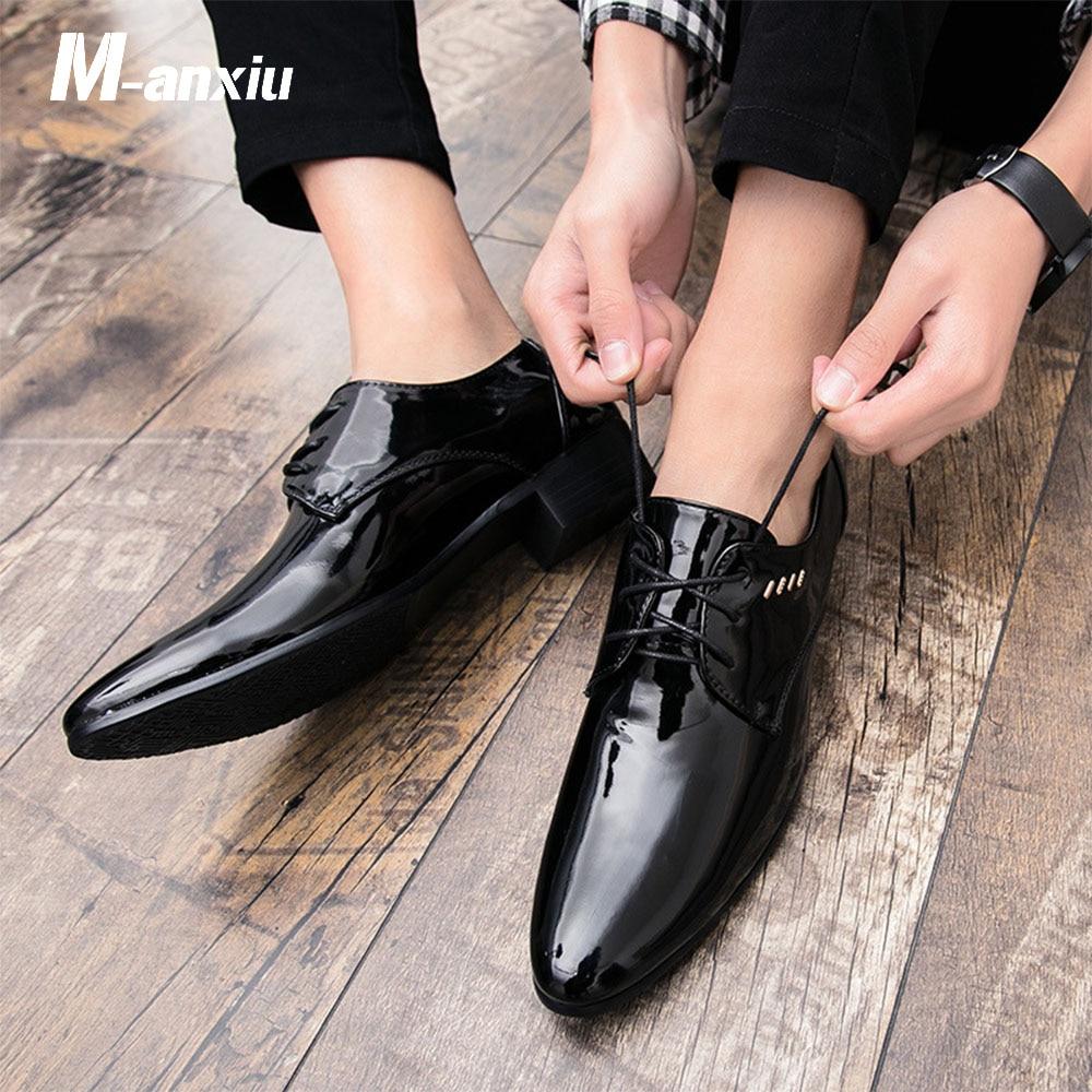 De Nouvelle Verni Qualité Semelle Caoutchouc Hommes Congelé M Noir Chaussures En Robe Black Mode Souple 2018 Mariage Cuir anxiu Homme axXSqEz