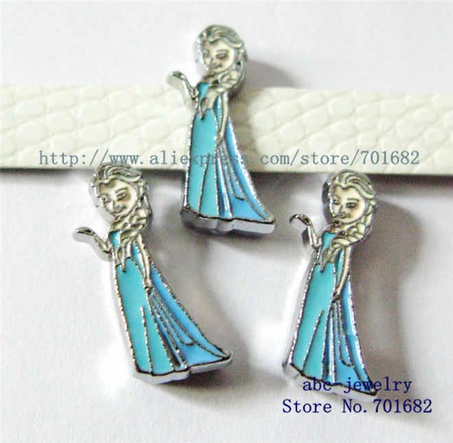 Phim hoạt hình-Elsa 10 cái Nội Dia.8mm Quyến Rũ trượt có thể thông qua 8 mét Wristband pet collar