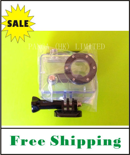On Sale FREE SHIPPING 35M Waterproof Housing Case with Glass Lens for Gopro Hero1 Hero2
