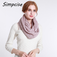 Simpcise 2017 Fashion New Unisex Winter Scarf Knitted Scarves Collar Neck Warmer Woman S Crochet
