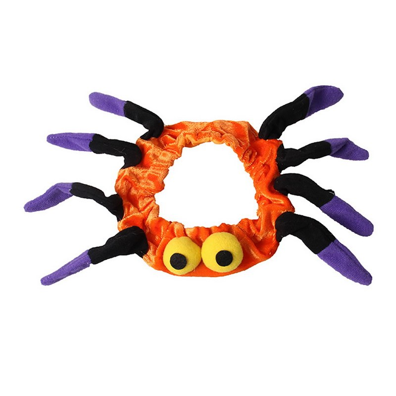 Christmas Fancy Dress Funny.1pc Funny Cosplay Spider Collar For Cat Dog Cute Pet Costume Kitten Halloween Christmas Fancy Dress Up Pet Accessories
