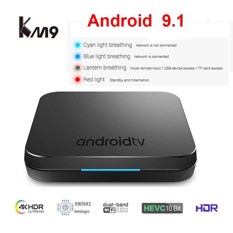 MECOOL KM9 Android 9 0 Smart TV Box Amlogic S905X2 Quad Core 4GB DDR4 RAM 32GB