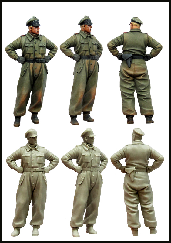 pre order-Resin toys  SS Tank Commander.WW2.  Free shippingpre order-Resin toys  SS Tank Commander.WW2.  Free shipping