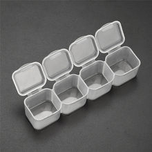 Storage Box Plastic Tran Sparent Display Par Tment Jewelry Adjustable Storage Box Handle Cosmetic Organizer Container Holder(China)