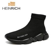 Генрих 2018 Лидер продаж Для мужчин элегантная Эластичные носки обувь новая мода Мужские ботинки высокие человек трендовая обувь Erkek Ayakkabi