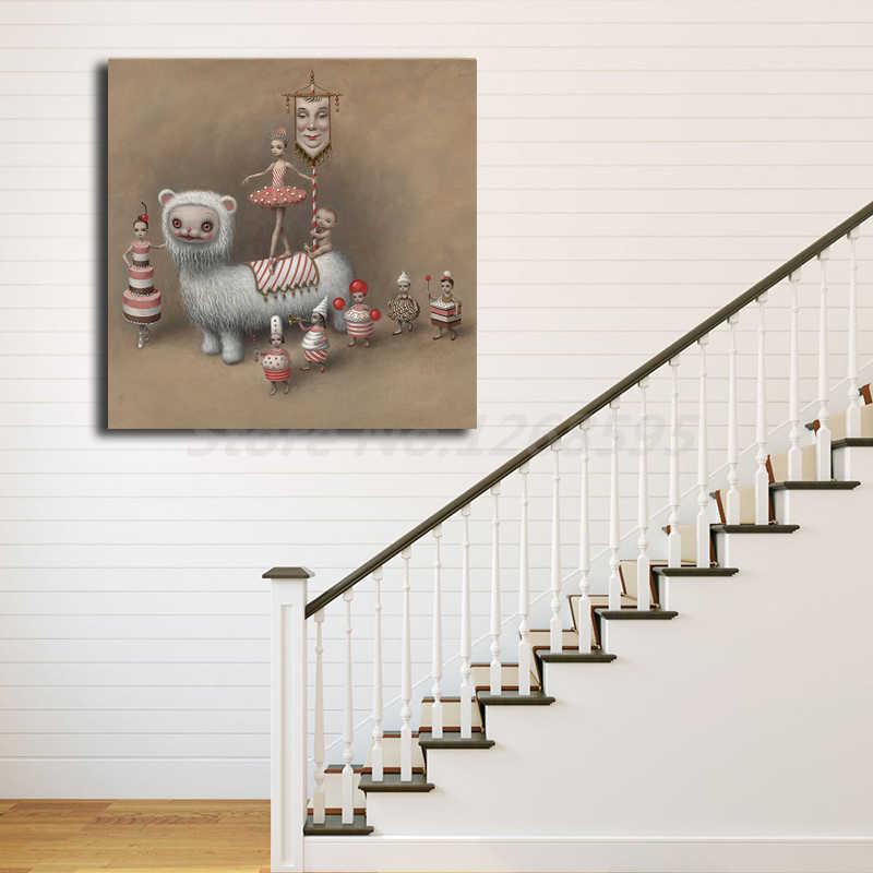 Seni Krim Oleh Mark Ryden Dinding Art Poster Cetak Lukisan Dinding Gambar untuk Kantor Ruang Tamu dekorasi Rumah