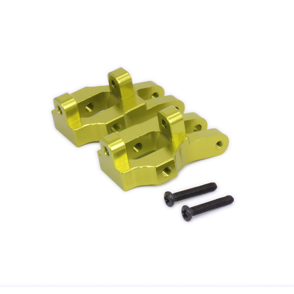 2PCS C-Hub Carrier Front Hub Carrier Upright Set For Rc Hobby Model Car 1-12 Wltoys 12428 12423 0006 Machined Upgraded Parts цена