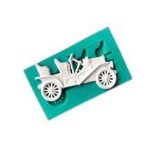 Vintage Coche forma molde de silicona para pasteles y galletas de Chocolate fondant moldes de cocina dulces de repostería para hornear pastel utensilios decorativos para boda