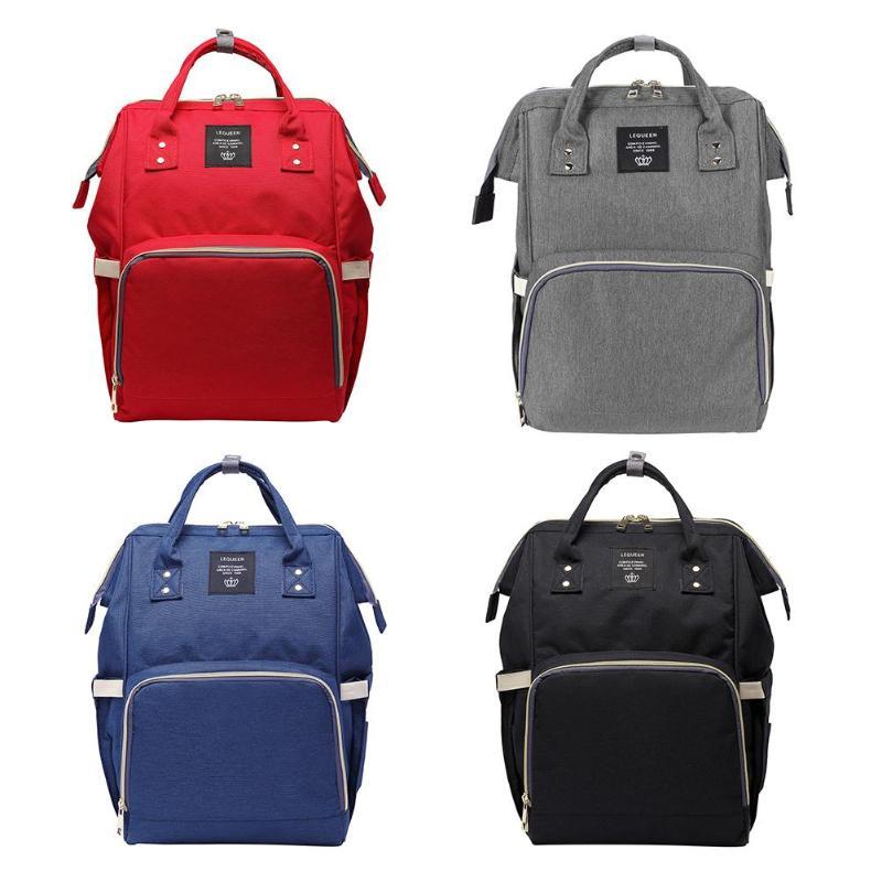 LEQUEEN Multi-función bolsas de pañales de la mamá de bolsa de gran capacidad cuidado del bebé de viaje mochila diseñador enfermería bolsa