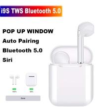 I9S наушники-вкладыши TWS с Беспроводной наушники Портативный Bluetooth 5,0 невидимая гарнитура наушники всплывающем окне PK i11 i12 i16 i20 i30