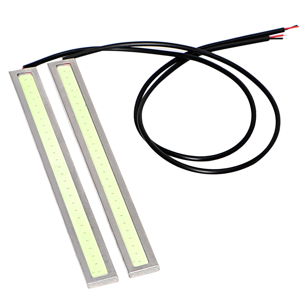 LED DC 12V Car DRL Car-styling 2Pcs Light Source COB Daytime Running Lights Fog Lamp Bar Waterproof