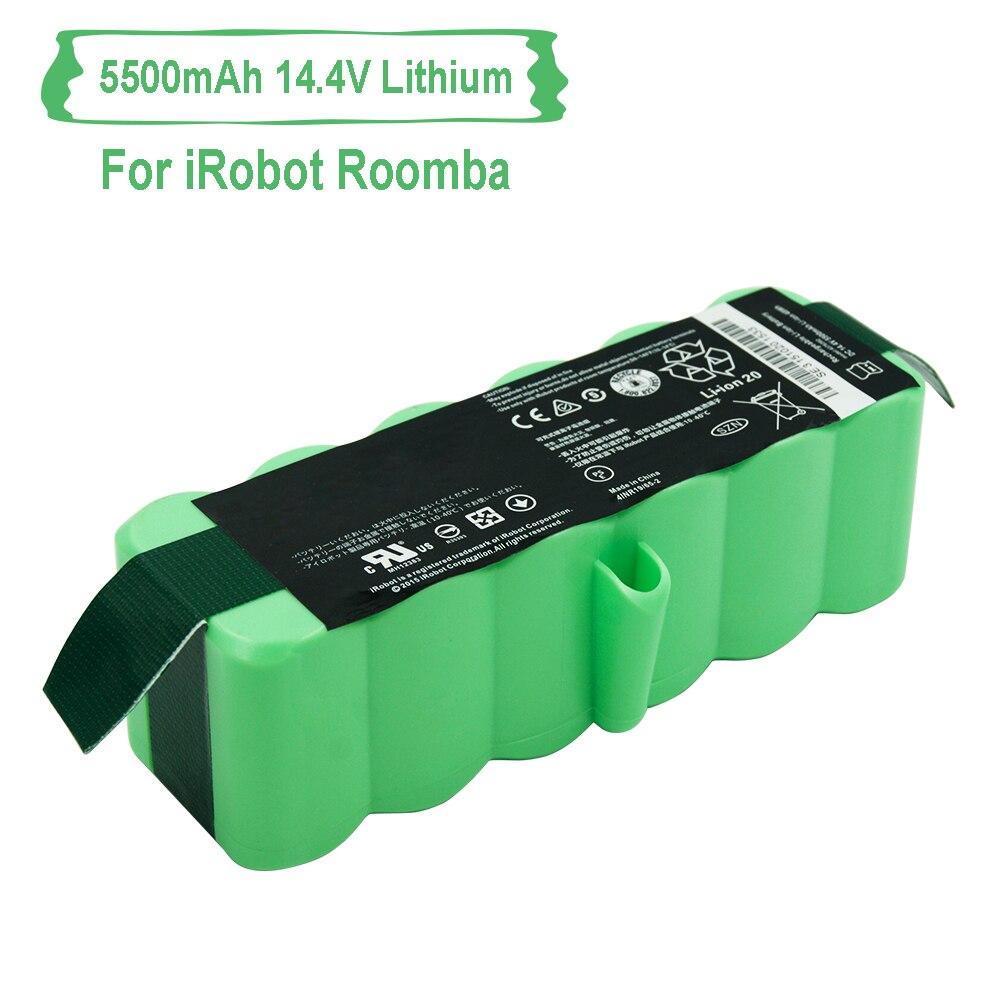 Au Lithium Remplacement 5500 mah 14.8 v Rechargeable Batterie Pour iRobot Roomba Aspirateur 500 600 700 800 880 980 Série