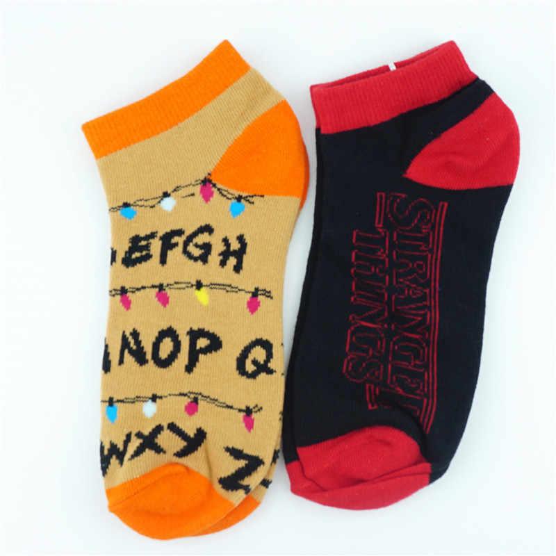 คนแปลกหน้าสั้นถุงเท้าที่มีสีสันถุงน่องแน่นน่ารักข้อเท้าแฟชั่นชุดลำลองถุงเท้า Cosplay Otaku