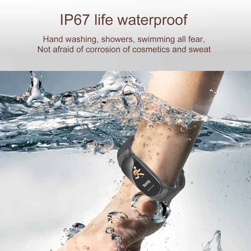 ييج الرياضة سوار ذكي النساء الرجال للماء ساعة ذكية القلب معدل ضغط الدم عداد الخطى معصمه الذكية لالروبوت iOS