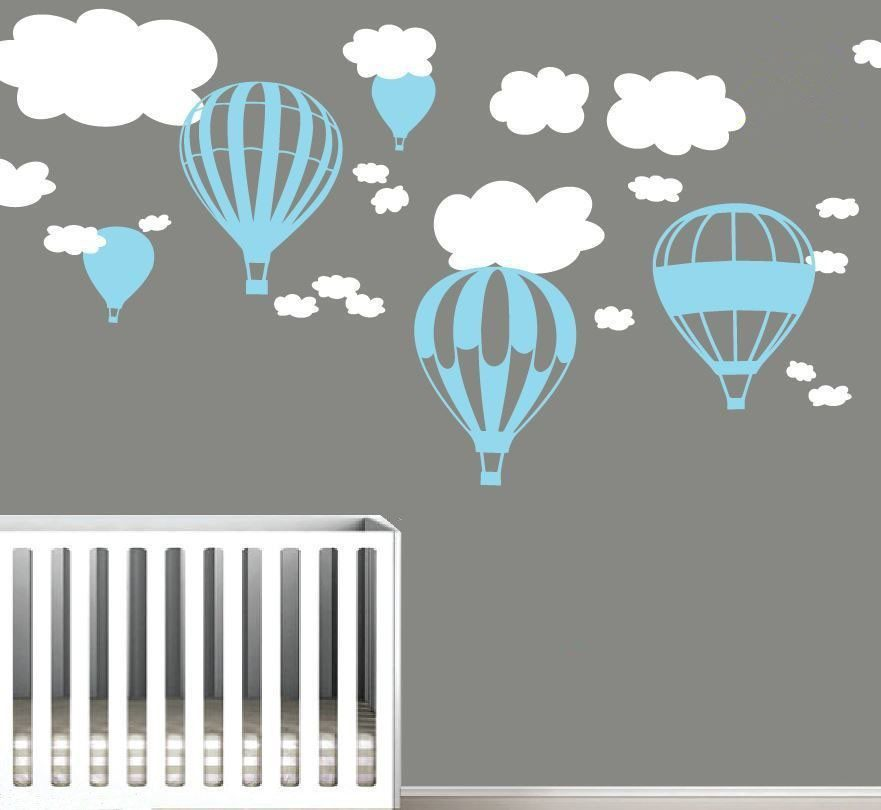 Blue Hot Air Ballon Stickers