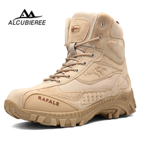 2018 Winter Military Boots Men Fashion Army Boots Men' s Tactical Desert Combat High Top Ankle Boots Men Outdoor Work Shoes Men