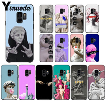 Yinuoda Alternative statue art Colorful Smart Cover Phone Case For GALAXY s7 edge s8 plus s9 plus s6 s6 edge s10 все цены