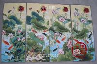 Chinese Boutique collection the Embroidery painting Lotus diagram