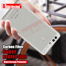 Gold Orchid Carbon Fiber 3D Soft For Huawei P8 P9 lite Film Clear Scratch Back Film For Huawei P8 P9 P10 Plus(China)