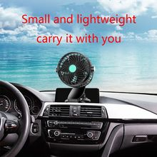 12V/24V 360 Degree All-Round Adjustable Car Auto Air Single Head Fan With Clip Low Noise Cooling Accessory