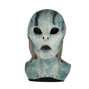 Image 5 - Película Hellboy: Rise of the Blood máscara de Reina Ox máscara con cuerno mano derecha guantes para juegos de disfraces armadura guante de mano de látex guantelete fiesta Halloween