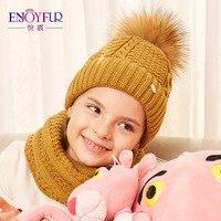 ENJOYFUR sombrero y de la bufanda de invierno de alta calidad punto de  algodón suave sombrero 1899bb10b98