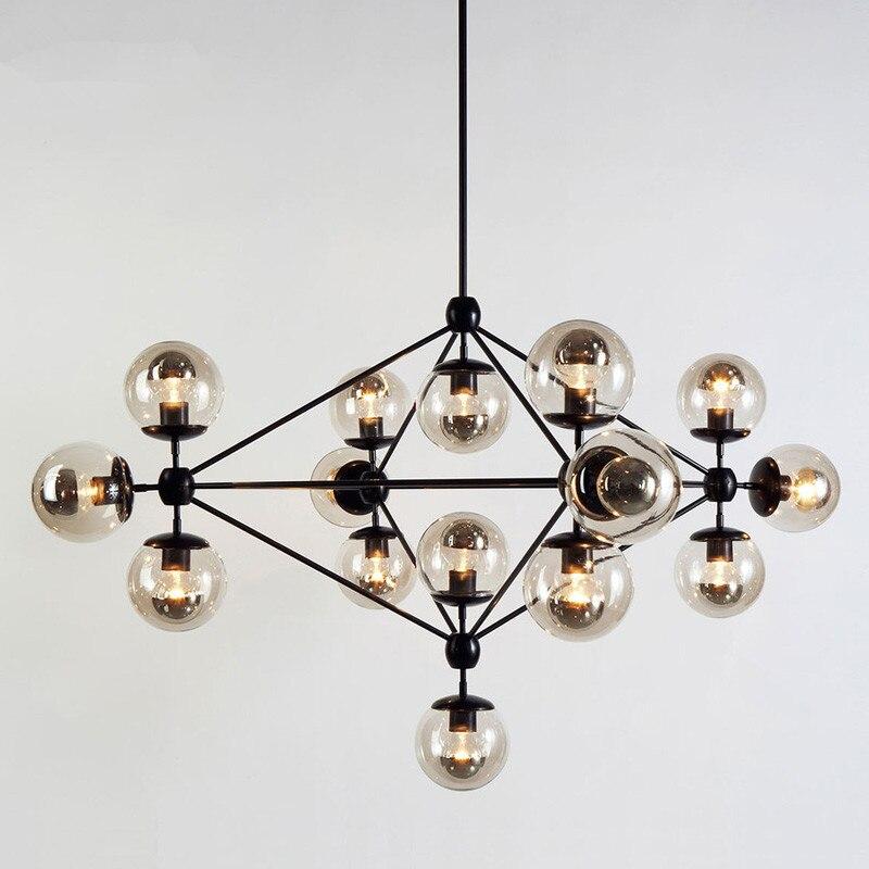 Modern Globe Modo Chandelier DNA Light Lamp Pendant Nordic Art Deco glass ball Suspension LED Lamp Kitchen Light Fixtures