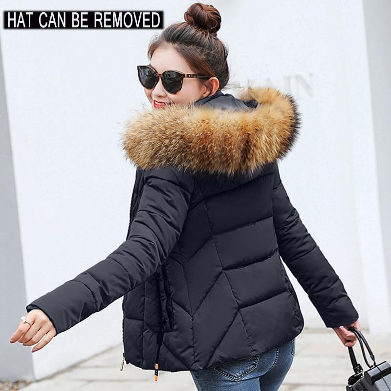 2019 Winter Jacket women Plus Size Womens Parkas Thicken Outerwear solid hooded Coats Short Female Slim Innrech Market.com