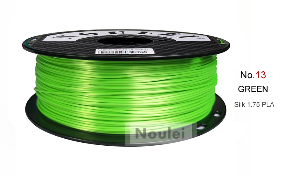 13 3D Printer Filament 1.75 SILK PLA GREEN