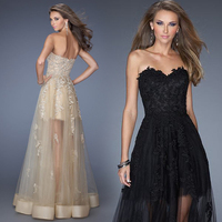 Black White Perspective Lace Banquet Dinner Before The Show In A Nightclub Will Show The Long