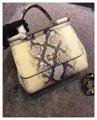 25CM small crocodile leather fashion lady handbag shoulder bag leather handbag