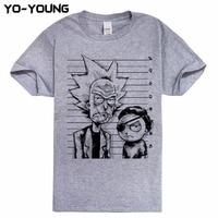 Yo Young Men T Shirts New Fashion Rick And Morty Funny Designs Digital Printed 100 Cotton