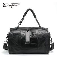 ESUFEIR Genuine Leather Luxury Handbags Women Bags Designer Patchwork Leather Shoulder Bag Women Messenger Bags bolsa feminina
