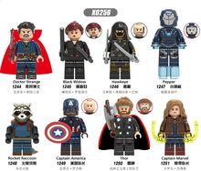 X0256 Legoingly Marvel ant Avengers kapitän Super hero Black widow Hawkeye Kleine pfeffer Raytheon Gebäude modul spielzeug kinder(China)