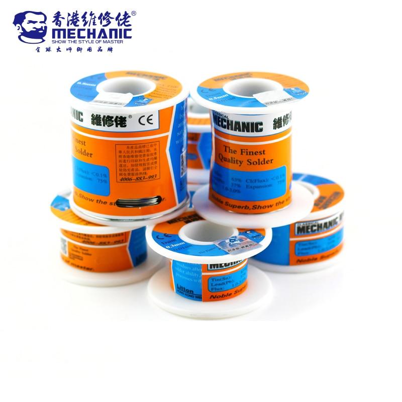 Механик 100 г 500 sn63 % pb37 % 0,3/0,4/0,5/0,6/0,8/1,0/1,2 мм HX-T100 высокой чистоты с низкой температурой плавления проволочного припоя