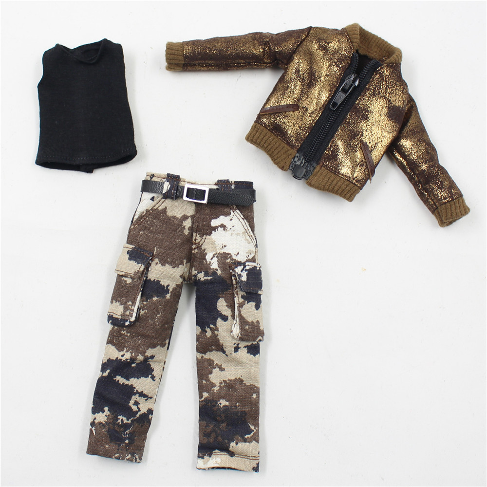 Neo Blythe Doll Military Uniform Pants Coat Outfit 9