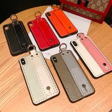 Роскошный модный чехол для iphone 7 Plus чехол для телефона с подставкой для iphone 6 S XS XR XSMAX, защитный чехол для телефона, Fundas L brand