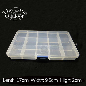 Best Offers  Fishing Tackle Boxes 15 Slots Fishing Accessaries Fly Fishing Box Pocket Tackle Box