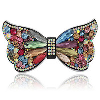 Large Butterfly Luxious Crystal Hair Comb Fashion Crystal Hair Clip Crystal Hair Pin RM203