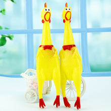 Hot Sell Jokes Gags Pranks Maker Trick Fun Novelty Funny Gadgets Blague Tricky 17cm Small Screaming Chicken Toys