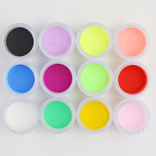 10ml/box Acrylic Powder 12 Colors 1box*10ml Clear For Nail Art Glitter Sculpture Powder#FA