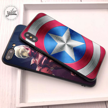 hot deal buy captain america coque for iphone xs max case for iphone 7 plus case for iphone xr cases for iphone 5 5s se 6 6s 7 8 plus x xs 6