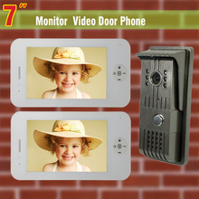 7 inch Monitor wired Video Door Phone Intercom Kit video Doorbell Aluminium alloy night vision door camera 2-screen