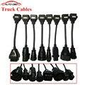 Conjunto completo tcs cdp Cables de Camiones Para TCS Delphi cdp pro plus ESCÁNER de camiones Camiones herramienta De Diagnóstico OBD2 OBDII cable de conexión