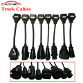 Full Set tcs cdp Truck Cables For Delphi TCS cdp pro plus SCANNER truck cable OBD2 OBDII Trucks Diagnostic tool connect  cable