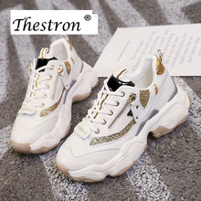 2019 Fashion Thick Soled  Girls Sports Shoes Spring Running Women Trainer Designer Walking Jogging Shoe Cool Running Shoe Female цена