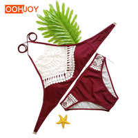 2017 New Sexy Bikini Women Swimwear Lace Swimsuit Hollow Push Up Bathing Suit Girl Beachwear Brazilian
