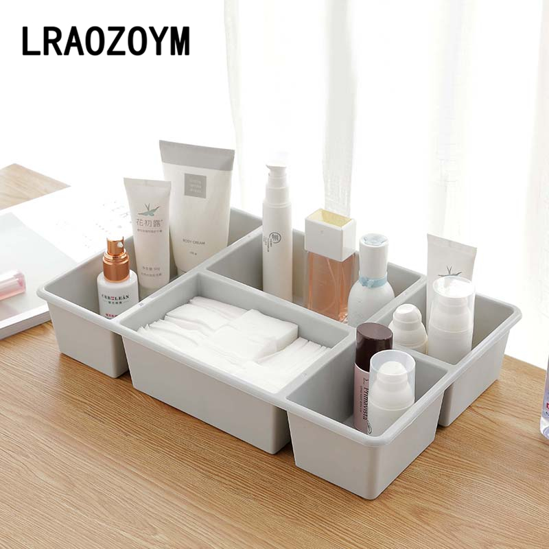 LRAOZOYM Nordic Style Cosmetics Makeup Multifunction Storage Box For Kitchen Bedroom Underwear Desktop Finishing 37*24*7cm LR168